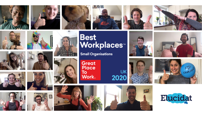 Elucidat named as one of the 2020 UK's Best Workplaces